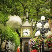 Historical steam clock.