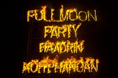 Phangan beach Full moon party