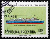 Postage Stamp Argentina 1978 Passenger Ship Ciudad De Parana