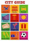 City Travel Guide Icons