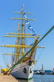 Tall Ship At Dock