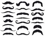 foto of rogue  - Set of mustache vector illustration on white background - JPG