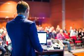 stock photo of seminars  - Speaker at Business Conference and Presentation - JPG