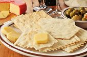 Flatbread Crackers And Gouda Cheese