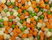 Diced Cube Raw Vegetables