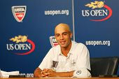 Professional tennis player James Blake announced his retirement during press conference