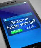 Restore To Factory Settings.