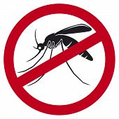 stop mosquito sign