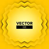 Abstract Vector Frame With Yellow Layers