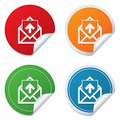 Mail icon. Envelope symbol. Outbox message sign