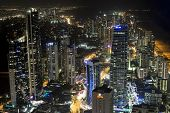 Gold Coast by night cityscape