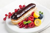 Chocolate Eclair With Berries