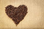 Coffee bean heart