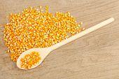 Spoon With Corn Grain