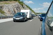 Traffic Jam On The Croatian Motorway
