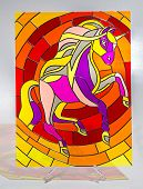 Stained glass - horse