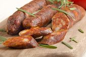 Sliced Spanish Chorizo With Rosemary