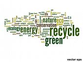 Vector eps concept or conceptual abstract green recycle and ecol