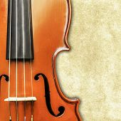 stock photo of string instrument  - Old Antique Vintage Violin Instrument Classical Music