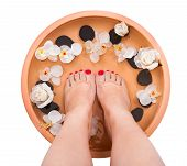 Female Feet Getting Aroma Therapy