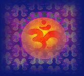Om Aum Symbol On A Grunge Texture