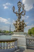 Eiffel Tower View From Pont Alexandre Iii