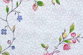 Textured Pattern On Cotton Fabric