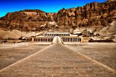 image of hatshepsut  - The temple of Hatshepsut near Luxor in Egypt - JPG