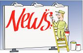 Billboard news cartoon
