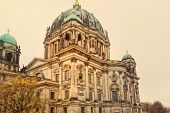 Berlin Cathedral Church. German Berliner Dom. A famous landmark