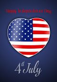 Heart for 4th July