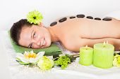 Woman Getting Lastone Massage