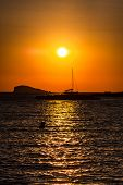 Sunset At The Beach (cala Conta),ibiza,spain