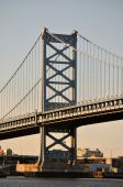 The Walt Whitman Bridge in Philadelphia, PA.