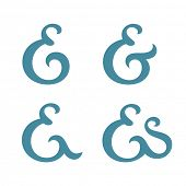 Custom ampersand collection. Vector illustration