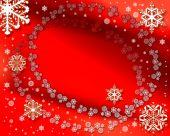 Rot Weihnachten Hintergrund und Schnee
