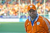 THE HAGUE, NETHERLANDS - JUNE 2: Max Caldas, the head coach of the Netherlands women field hockey sq