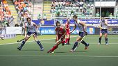 THE HAGUE, NETHERLANDS - JUNE 1: USA fieldplayer Gonzales is playing the bal towrads the goal during