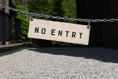pic of no entry  - Closeup to a No Entry Sign during the day - JPG