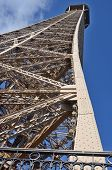 Close up of the Eiffel Tower
