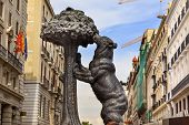 Bear And Mulberry Tree El Oso Y El Madrono Statue Symbol Of Madrid Puerta Del Sol Spain