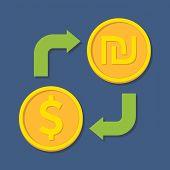 foto of shekel  - Currency exchange - JPG