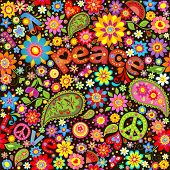pic of hippy  - Wallpaper with hippie symbolic - JPG