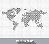 World global map. Vector illustration.