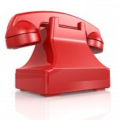 Red Isolated Phone
