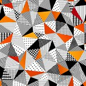 Triangle seamless pattern. Vector illustration.