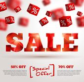 picture of cube  - Sale poster - JPG