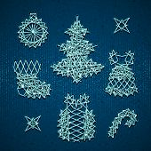 Vector set of Christmass symbols for your design