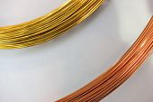 Brass wire and copper wire