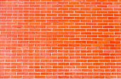 Red Brick Wall Of Modern Masonry
